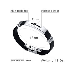 Cross Silicone Bracelet Bangle