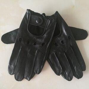 Image 4 - Echte Leer Man Handschoenen Lente Zomer Dunne Ongevoerd Ademend Antislip Locomotief Motorfiets Rijden Handschoenen Mannelijke M023W 1