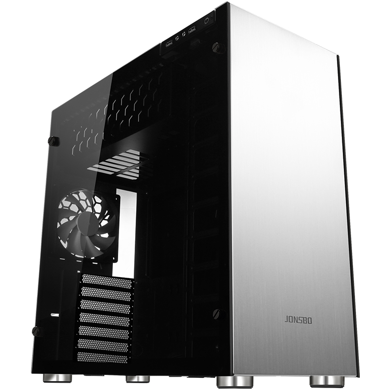 Jonsbo C4 Chassis Double-sided side support ATX support water-cooled aluminum housing jonsbo rm2 aluminum chassis atx small chassis support atx motherboard atx power supply
