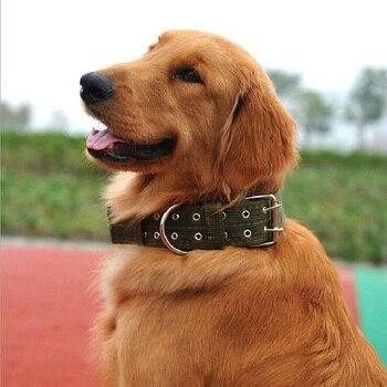 High Quality Big SizeLarge Dog Collar Brief Pattern Pet Collar For Golden RetrieverHuskyRottweilerShepherdCaastro สาย จูง สุนัข รัด อก