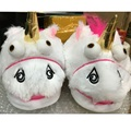 Women Plush Unicorn Slippers Chaussons Licorne Adultes Cosplay Chaussons Licorne Creative Funny Home Soft Shoes Pantufas
