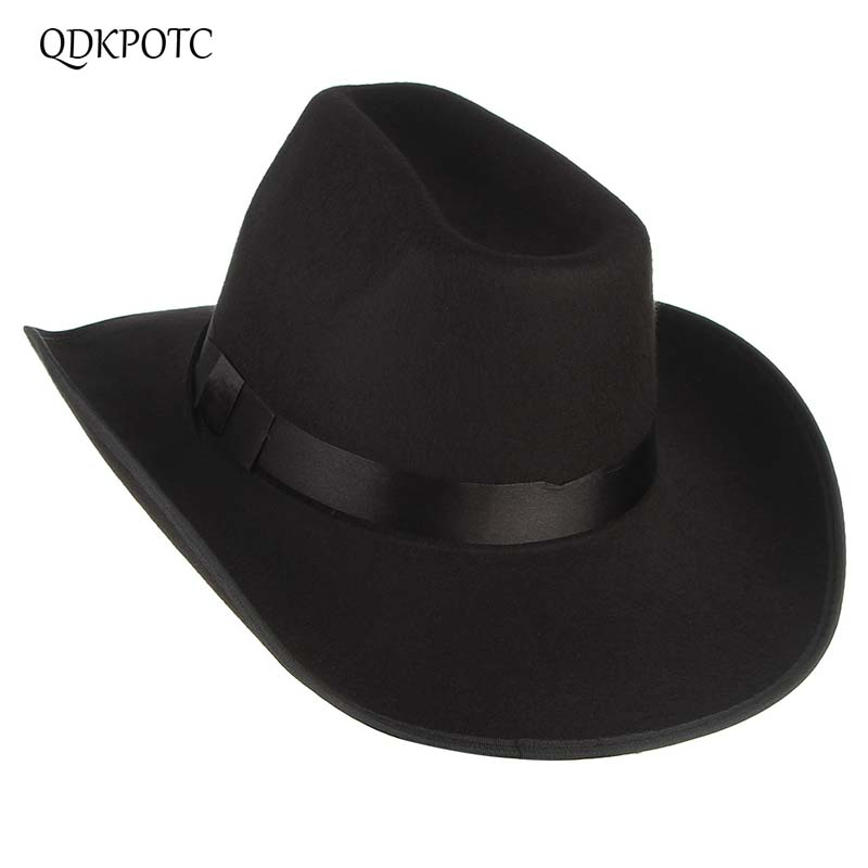 QDKPOTC Cool Western Men Cowboy Hats Sun Visor Cap Travel Performance Western Hats Chapeu Cowboy