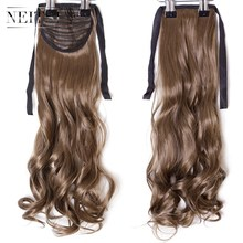 Neitsi Curly Long Clip In Hair Tail False Ponytail Hairpiece With Hairpins Synthetic 6#