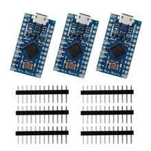 3Pcs Pro Micro ATmega32U4 5V/16Mhz Development Board Met 3 Row Pin Header Voor Arduino Leonardo vervangen ATmega328 Pro Mini
