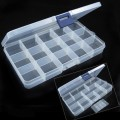 15 Slots Jewelry Adjustable Tool Box Organization Home Storage box Kitchen Accessories Medical novelty items  Plastic box