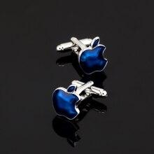 XK430 High high quality French Cufflinks Blue Apple Cufflinks males Wedding Shirts / wholesale / retail / equipment