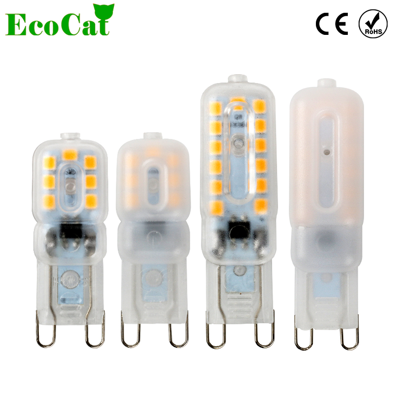 ECO Cat G4 G9 LED bulb 220V 3W 5W Corn Bulb SMD 2835 Spotlight For Crystal Chandelier 5w g9 45 x smd 3014 6500k silicone led corn lamp crystal spotlight bulb