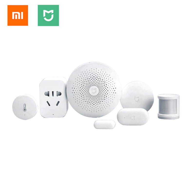 Xiaomi Smart Home Mijia 6 In 1 Kit Gateway,Door Window,Human Body ,Wireless Switch,zigbee socket,Temperature Humidity Sensor-in Smart Remote Control from Consumer Electronics    1