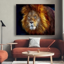 Wild Animals Poster Painting Wall Art Room Decor Print Lion Series Pictures for Sitting Canvas