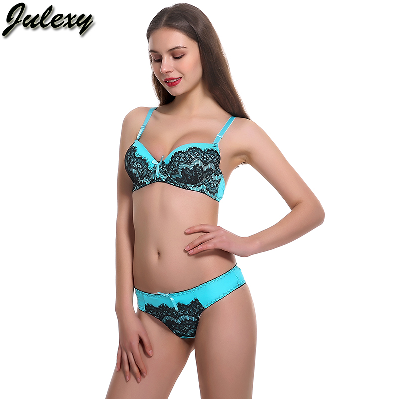 Julexy Brand New 2018 A B Cup Sexy Lace women bra and panty set beige blue  red intimates bra brief sets Girl underwear sets-in Bra   Brief Sets from  ... 5cf5d654c