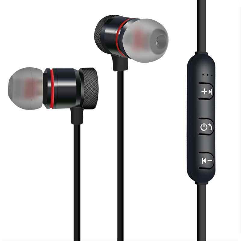 HEONYIRRY metalowe sportowe słuchawki bluetooth słuchawki bezprzewodowe dla sportowe słuchawki douszne z zestaw słuchawkowy z mikrofonem słuchawki stereo