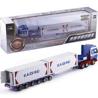 1:50 Scale Alloy Metal Truck Trailer Container Cargo Logistics Car Truck Diecast Model Engineering Vehicle Model Toy Collections