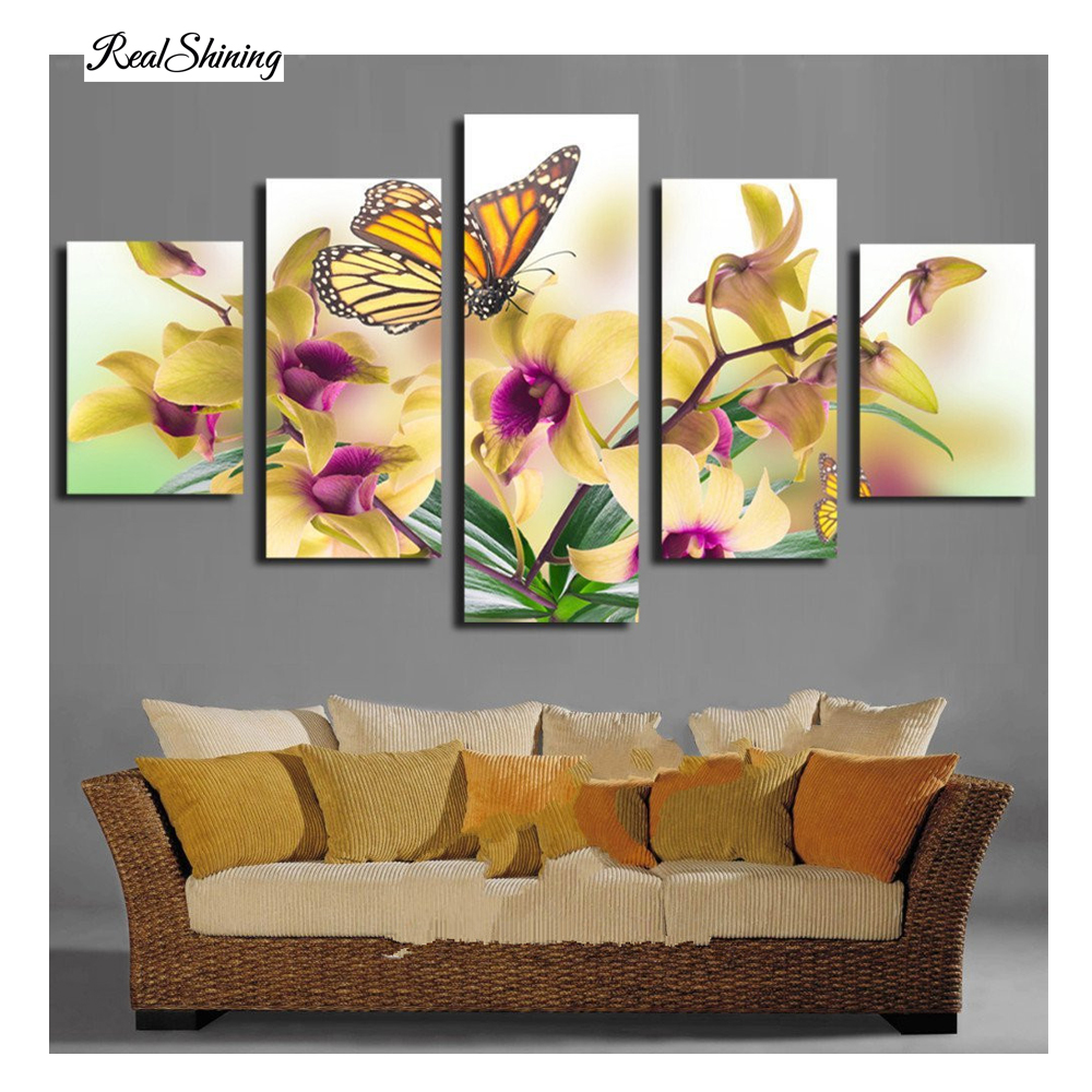 Butterfly Flower triptych Diamond embroidery Painting rhinestones 3D picture cross stitch pattern Home decoration CX736