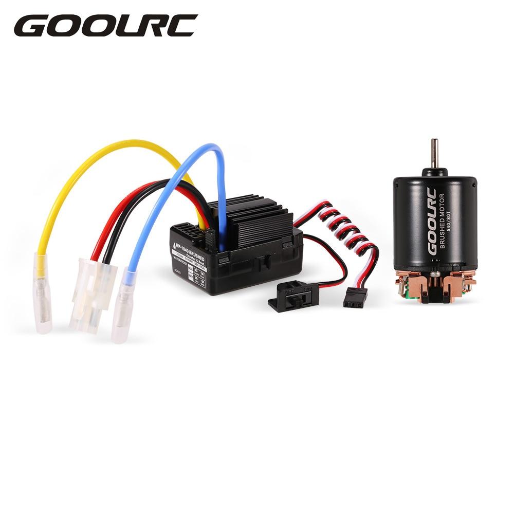 GoolRC RC Part Motor 540 80T Brushed Motor with 40A Electric ESC Combo Set for 1:10 RC Car Axial SCX10 RC4WD D90 Crawler Truck generic roland scan motor for sj 540 sj 740 fj 540 fj 740 sc 540 printer parts motor