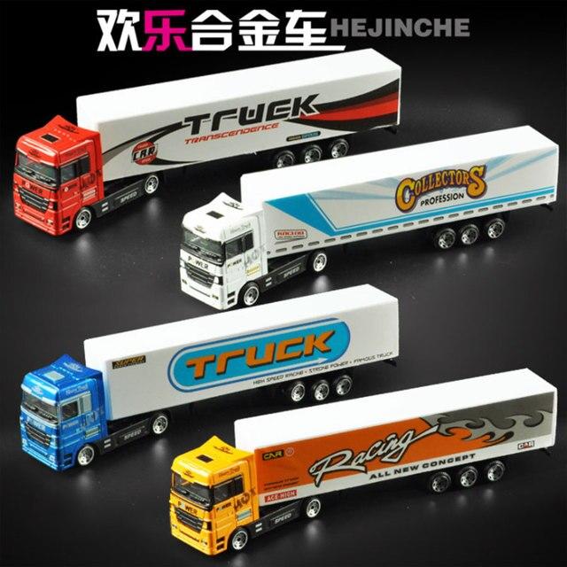 187 Alloy Container Truck Transporter Model Diecast Big Mac Cargo Childrens Toys Birthday