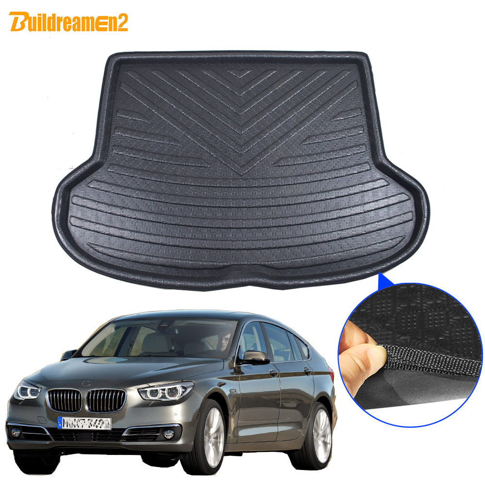 Cawanerl For BMW 5 Series GT Car Rear Trunk Mat Tray Boot Liner Floor Cargo Mud Kick Pad Carpet Accessories