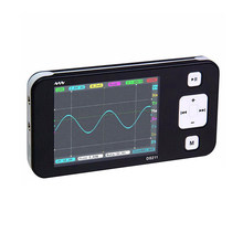 Mini ds211 display led osciloscópio digital portátil, equipamento eletrônico inspeção e manutenção