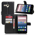 Fashion Litchi PU Wallet Leather Cover Case For Alcatel One Touch Pop 3 5.5 5025D Flip Protective Phone Bag With Card Holder
