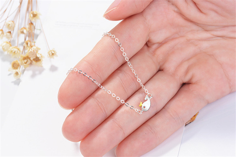 TJP New Fashion Women Silver 925 Bracelets For Girl Party Accessories Charm Dolphin Design Link Chain Bracelet Women Jewelry Hot in Charm Bracelets from Jewelry Accessories