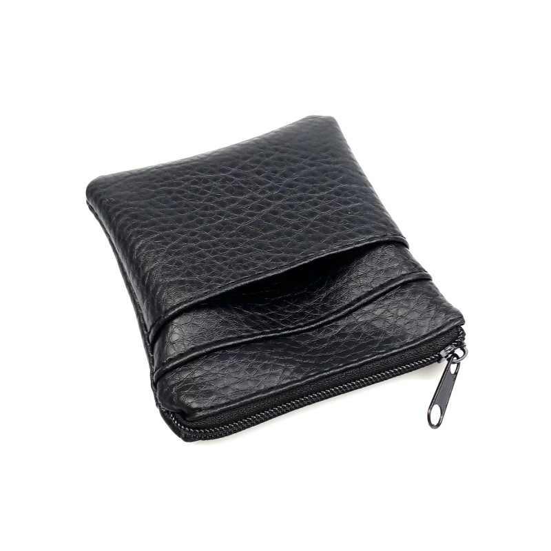1 pc 2019 moda couro do plutônio curto moeda bolsa das mulheres dos homens pequenos mini carteira sacos mudar pouco chave titular do cartão de crédito saco