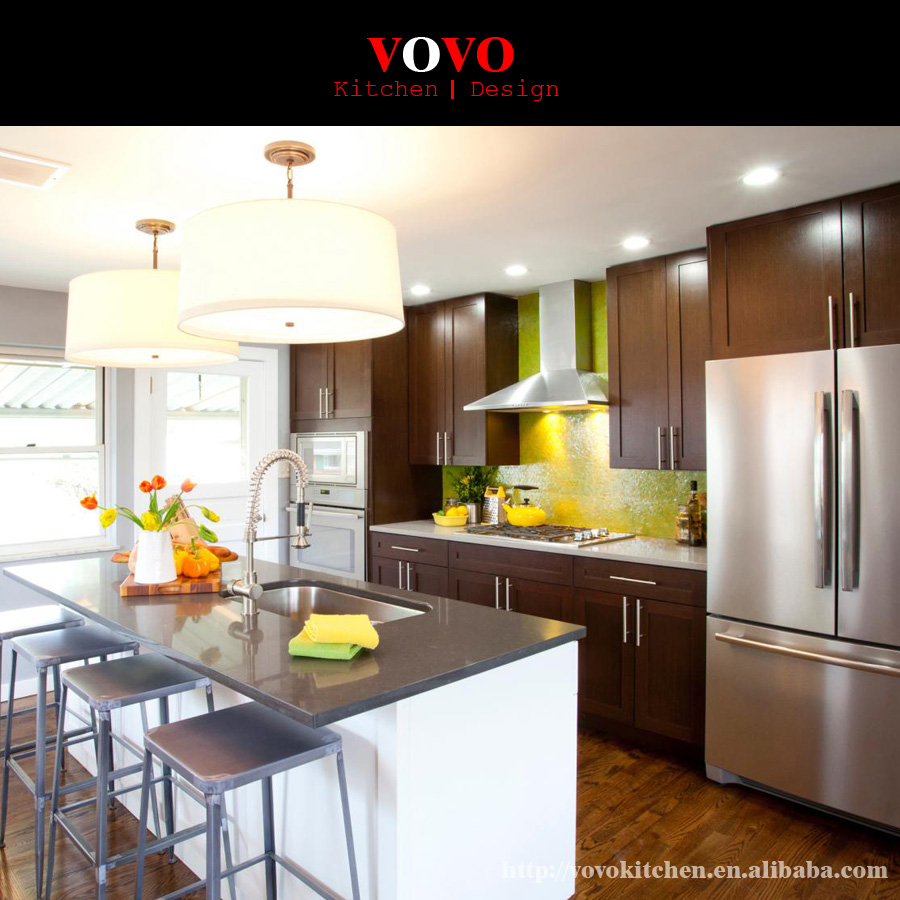 Cabinets On Sale: Hot Sale Customized Solid Wood Kitchen Furniture With Wall
