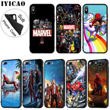 IYICAO Marvel The Avengers Jorker Dead Pool Soft Silicone Phone Case for iPhone XR X XS 11 Pro Max 6 6S 7 8 Plus 5 5S SE Black