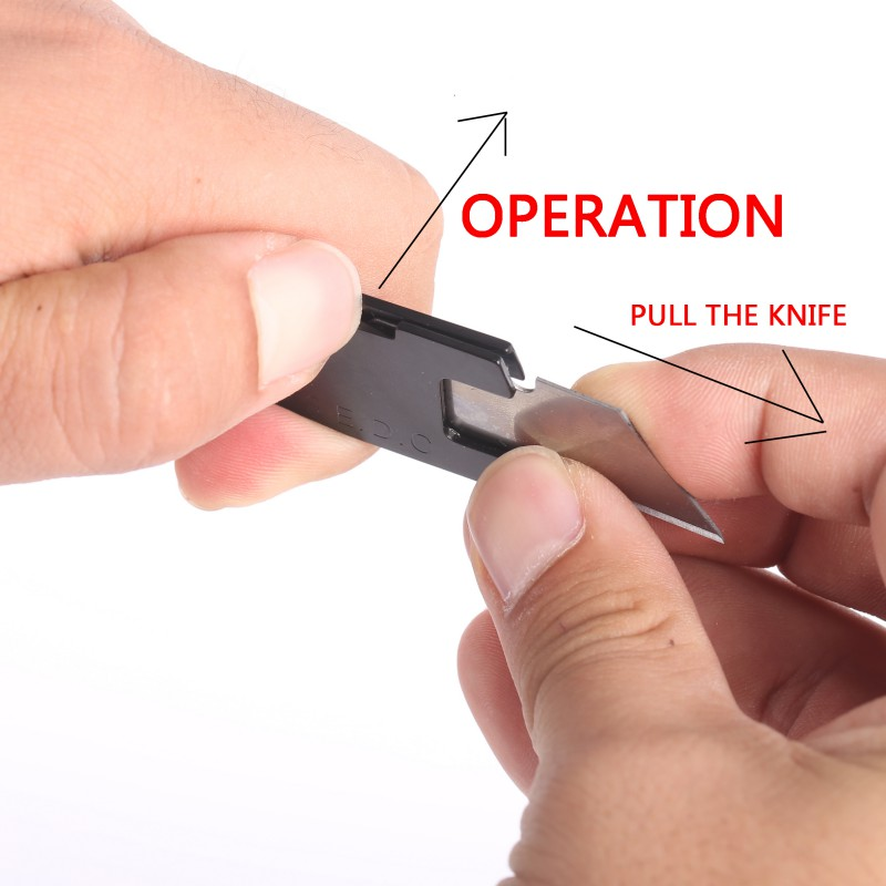 Multifunctional Knife Mini Keychain Multi Tool Key Pocket Letter Camp Outdoor Pare Peeler Peel Parcel Open image
