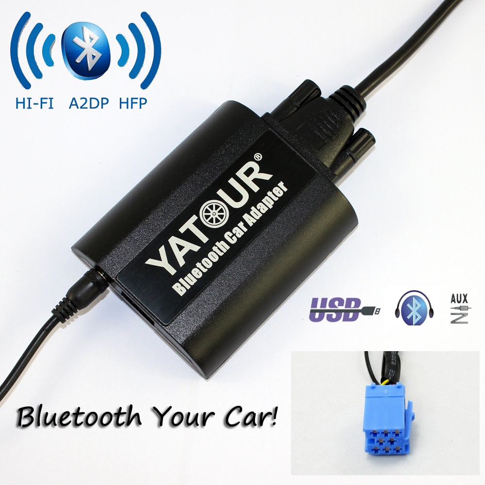 Yatour Bluetooth Car Adapter YT-BTA For RD3 Peugeot Citroen RB2 RM2 Van-bus AUX IN HI-FI A2DP Usb Charging port car usb sd aux adapter digital music changer mp3 converter for skoda octavia 2007 2011 fits select oem radios