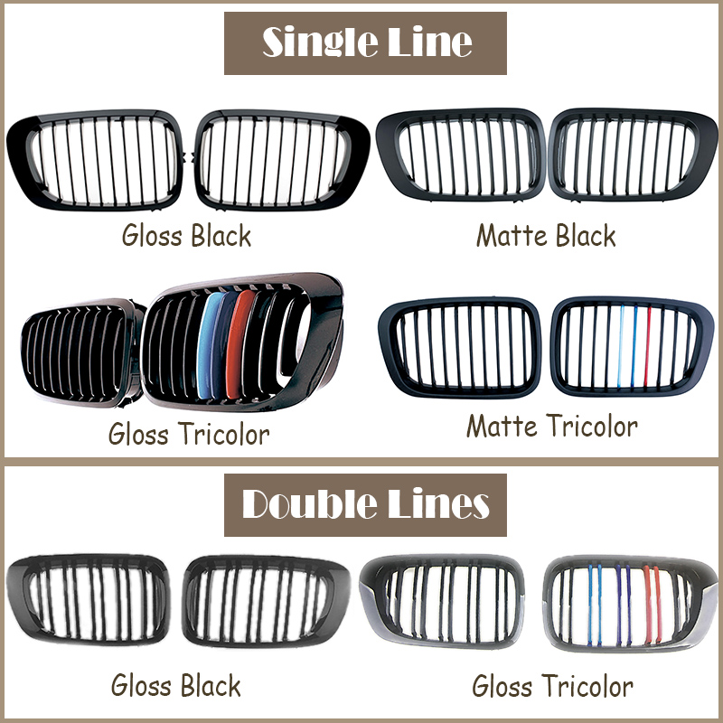 Car Front Racing Grills Grilles For BMW E46 Coupe BMW 3 Series 1998 1999 2000 2001