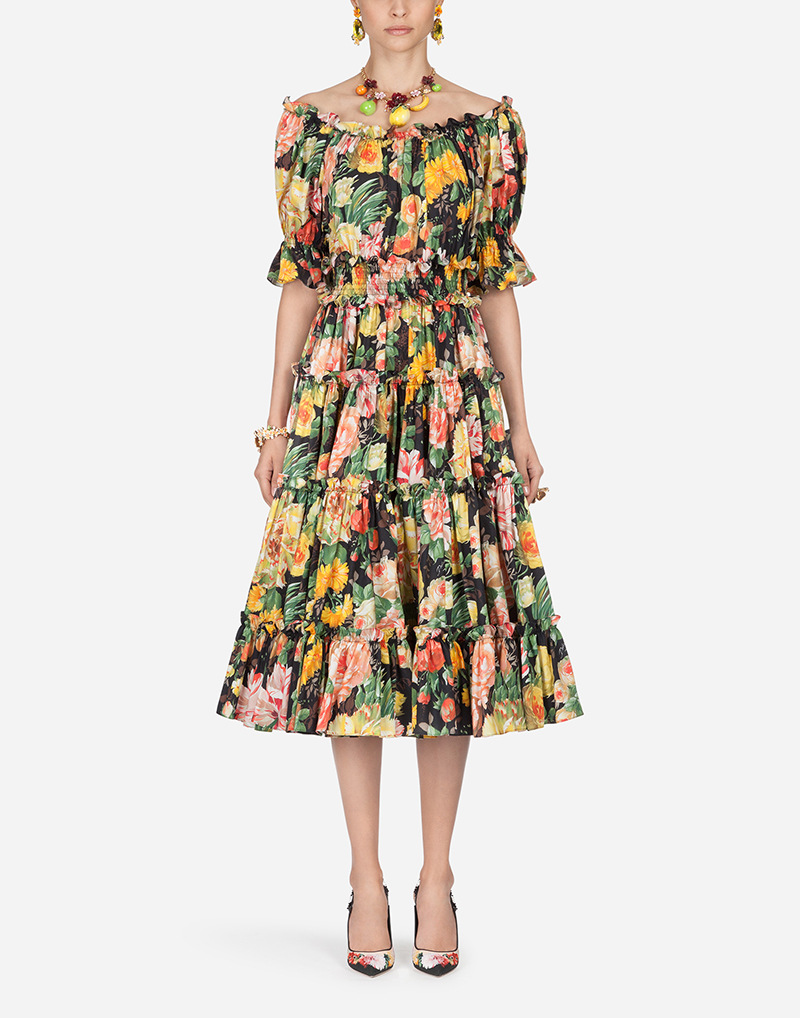 S-XL grande taille Slash cou été plage Robe 2019 lâche à manches courtes imprimé Floral Robe femmes grande balançoire Robe noire femmes Robe - 2