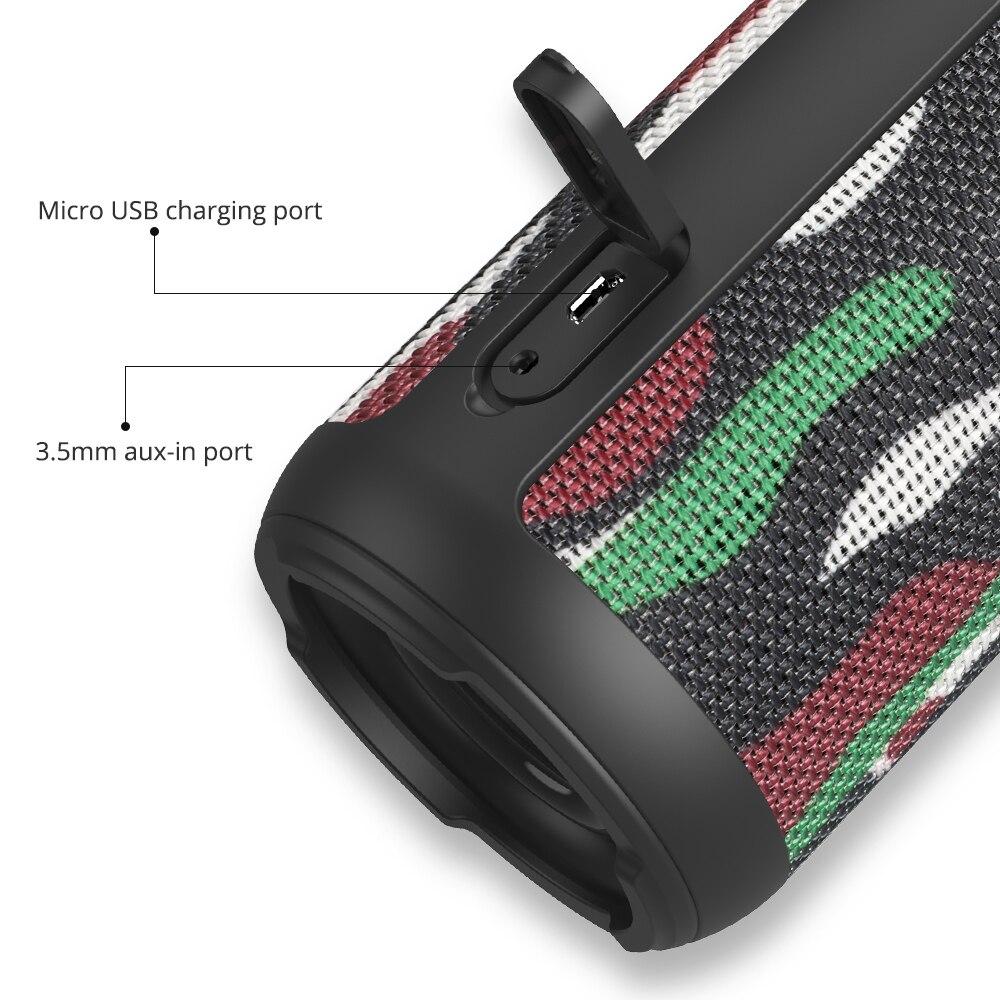 Tronsmart Element T6 Bluetooth Speaker 25W Portable Speaker with 360 Stereo Sound Soundbar Column 15H Play Time-Camouflage 0