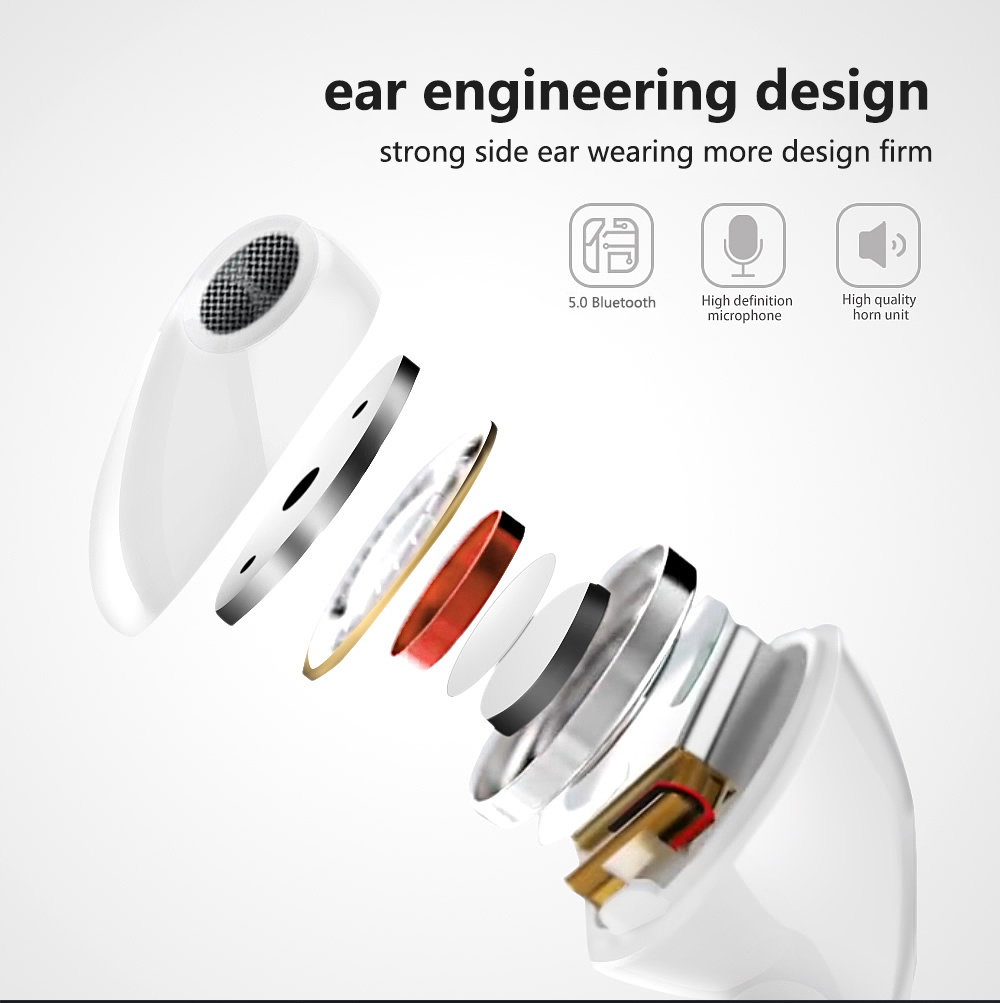 I12 i30 i60 TWS Bluetooth 5 0 Earphone Wireless Earphones Automatic Pairing Earbuds With Charge Box for Iphone Wireless Earphone in Bluetooth Earphones Headphones from Consumer Electronics