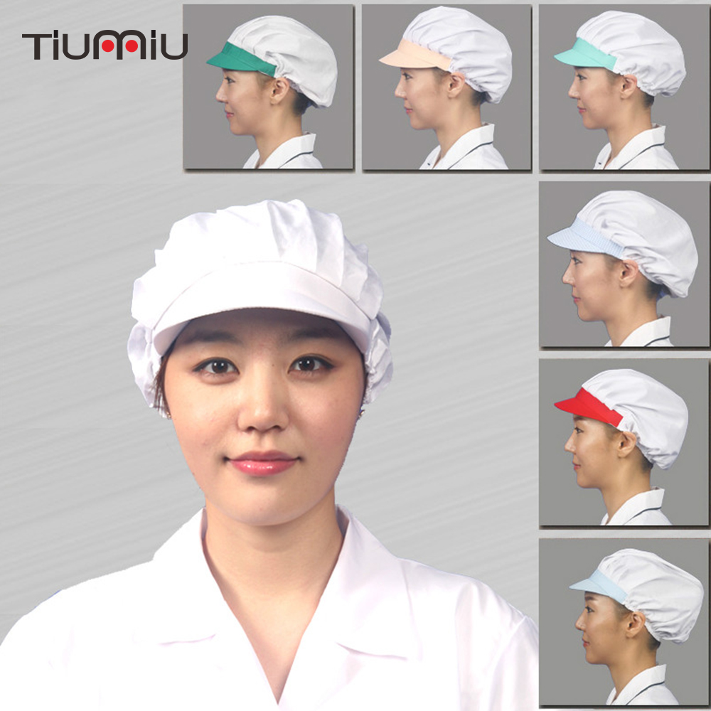 Chef Adjustable Caps Restaurant Kitchen Hat Food Service Bakery Cook Catering Workshop Work Cap Dustproof Women Breathable Caps