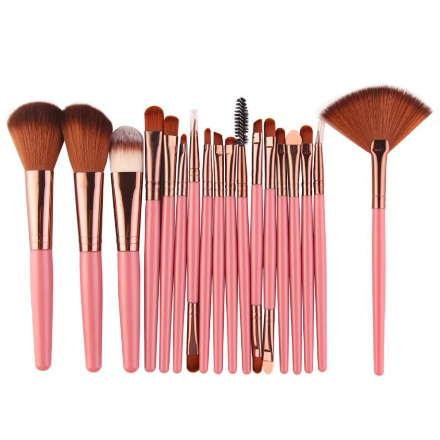 2017 vente chaude Maquillage Brosse Nouveau 18 pcs Maquillage Brush Set outils Make-up Kit de Toilette Laine Make Up Brush Set P beauté santé 17Jan 4