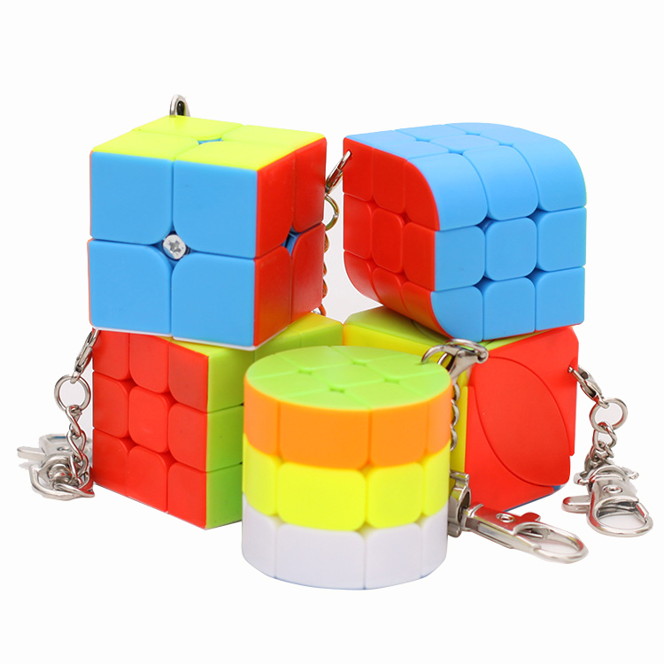 Moyu Mini Key Chain 3x3x3 2x2x2 Magic Cube Puzzle Stickers Speed Cube Keychain Educational Toys For Children Gift Game Cube