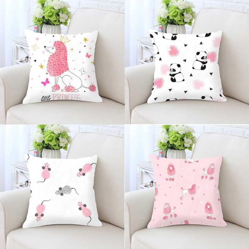 Cute Small Animal Decoration Dog Cushion Panda Pig Princess Zebra Dinosaur Sea Lion Mouse Elephant Footprint Pillow For Kids