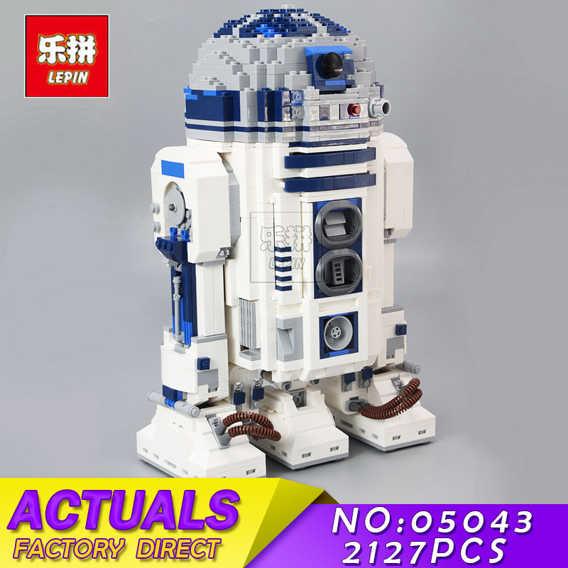 LEPIN 2127pcs 05043 Star Series Wars R2-D2 The Robot Model Building Blocks Bricks Kits for Children Toys Compatible 10225 Gifts new 2127pcs lepin 05043 star war series r2 d2 the robot building blocks bricks model toys 10225 boys gifts