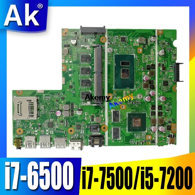 Pour ASUS X541UJ X541UV X541U X541 X541UVK X541UQk carte mère D'ordinateur Portable Test carte mère d'origine 8G i7-6500/i7-7500/i5-7200