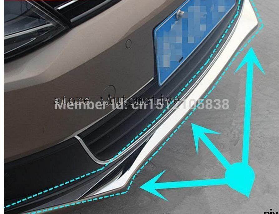 Car Stainless Steel Racing grille Bumper scuff trim products for 2012 2013 2014 FOR Volkswagen vw Jetta MK6 Accessories
