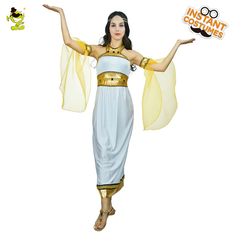 Adults Sexy Egyptian Pharaoh Costumes Queen Egyptian Pharaoh Dress For Cleopatra Girls Purim Halloween Fancy Dress Costume