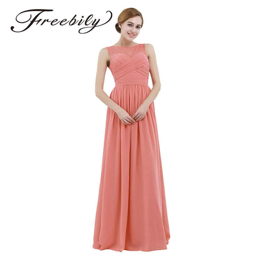 6b356756bae1 Freebily Womens Fashion Chiffon Lace Maxi Summer Dress Long Bridesmaid Prom  Gown Floor Length A-