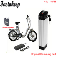 Bottom discharge ebike 48v battery electric bike battery 48V 10Ah,for bafang/8fun 500w motor with Aluminium Case BMS Chargrer