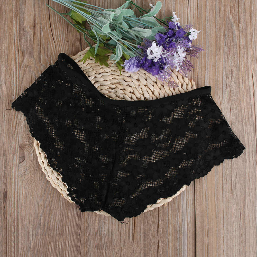 New 1PC Comfortable Transparent Women Lady Sexy Flower Lace Briefs Lingerie Knickers G-string Thongs Panties Underwear