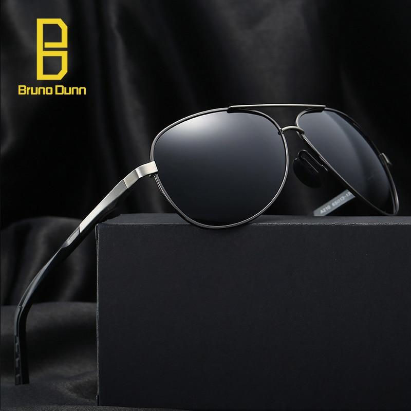 Brand Polarized Men Aviation font b Pilot b font Sunglasses Stainless Steel Polaroid Driving Sun Glasses