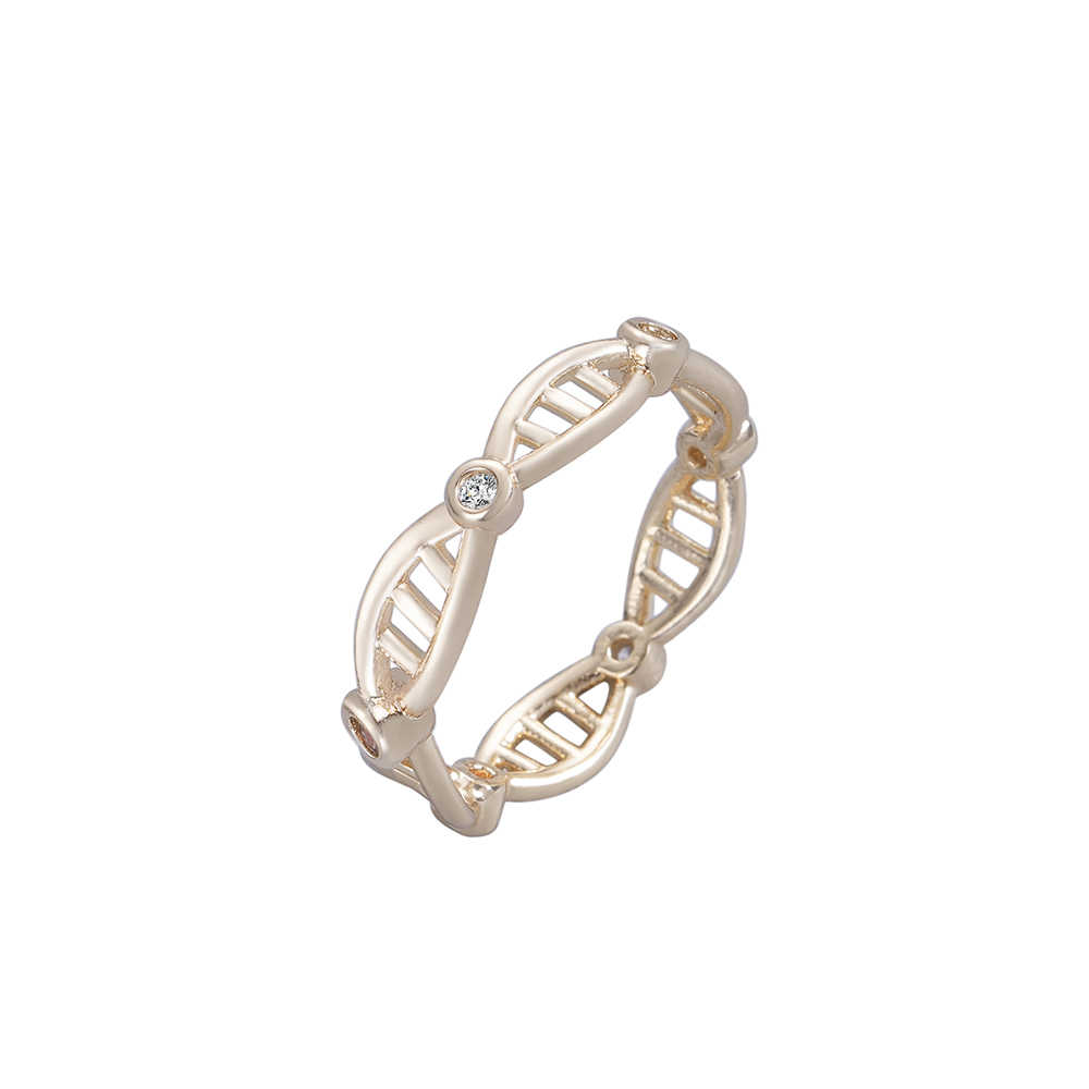Cxwind Fashion Clear Cz Infinity Endless Love 8 Shape Rings For Women Girl Lover Wedding Party Geometric DNA Ring Jewelry