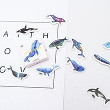 45 Pcs/box whale paper sticker DIY decoration stickers diary photo album scrapbooking planner label sticker 45 pcs box mountain cat paper sticker diy decoration stickers diary photo album scrapbooking planner label stickers