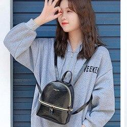 Torby szkolne dla nastoletnich dziewcząt torba na ramię plecak dla kobiet mały mochila mujer, skórzany plecak, plecak plecak szkolny college sac dos 4