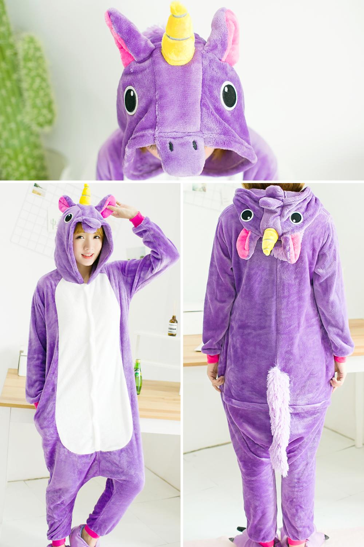 HTB1tv7mSXXXXXcBXpXXq6xXFXXXH - Pink Unicorn Pajamas Sets Flannel Pajamas Winter Nightie Stitch Pyjamas for Women Adults