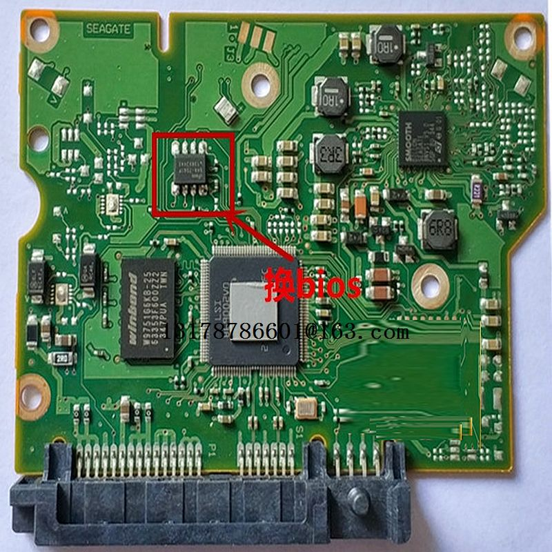 hard drive parts PCB logic board printed circuit board 100717520 for Seagate 3.5 SATA ST1000DM003 <font><b>ST2000DM001</b></font> ST3000DM001 image