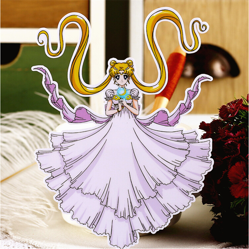10pcs Creative Cute Self-made  Pretty Soldier Sailor Moon Scrapbooking Stickers /Decorative Sticker /DIY Craft Photo Albums